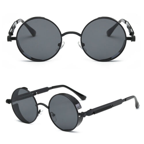 2018 Hot Brand Women Design Fashion Steampunk Mens Round Sunglasses Lot