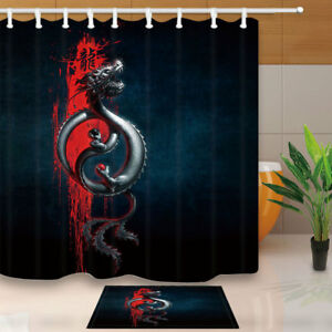 Image Is Loading Flying Oriental Dragon Shower Curtain Home Bathroom Fabric
