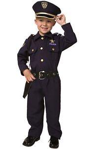 Disfraz-de-policia-de-lujo-3-4-anos-Nino-Con-Todos-Los-Accesorios-Americano-New