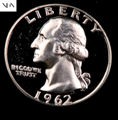 1962 Washington Silver Quarter ~ GEM PROOF Uncirculated ~ US Coin MQ