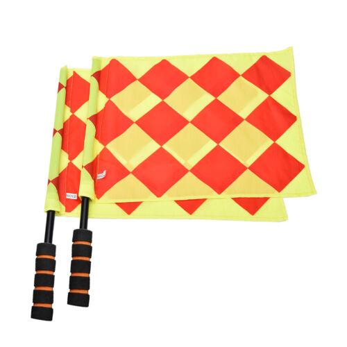 Soccer Referee Flag Fair Play Sports Match Linesman Flags Referee+Carry BagU uq