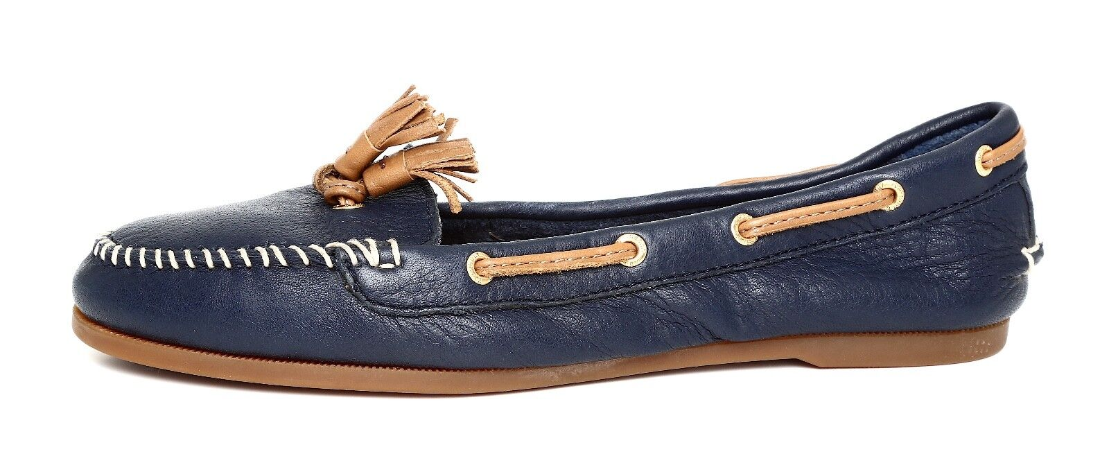Sperry Top Sider Sabrina Women's Navy Leather Moccasins Sz 6M 3284
