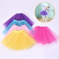 Bling Star Sequin Baby Girl Tulle Ballet Tutu Skirt Princess Dress Dance Costume