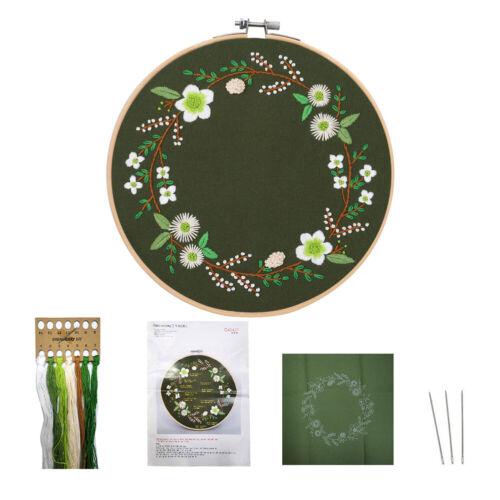 Circle DIY Embroidery Kit Handmade Cross Stitch Thread Set For Beginners Craft