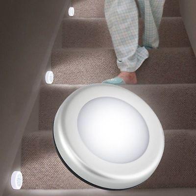 Wireless Night Light PIR Motion Auto Sensor 6 LED Lamp Lights Battery Operated