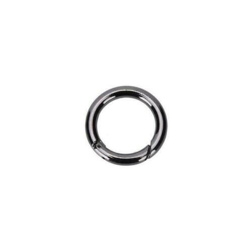 1//3//5pcs O Ring Round Carabiner Snap Clip Trigger Spring Keyring Buckle Findings