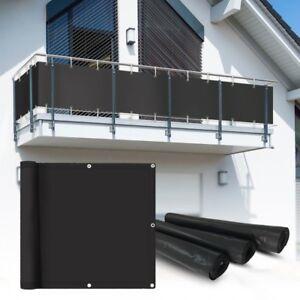 pvc balkon sichtschutz sichtschutzfolie anthratzit 6x0 75m balkonabdeckung ebay. Black Bedroom Furniture Sets. Home Design Ideas