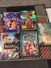 5 Disney DVD: Lady Tramp Bambi Brother Bear 2 Fox Hound 2 Platinum Edition Lot