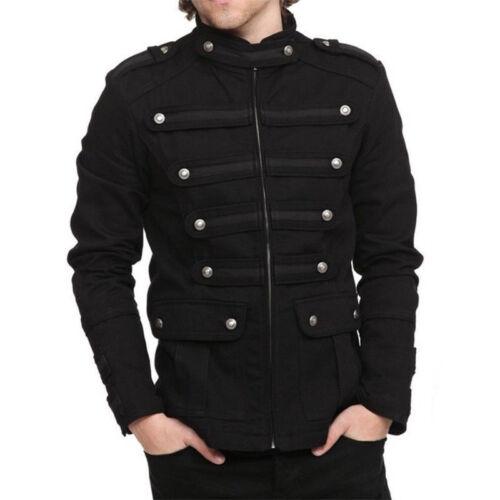 Men Short Coat Steampunk Gothic Clothes Rock Zipper Vintage Jacket Outwear NEW