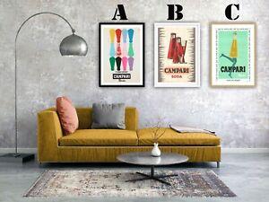 Campari-Soda-Vintage-Advertising-Art-Print-Poster-Choice-of-3-Great-Prints