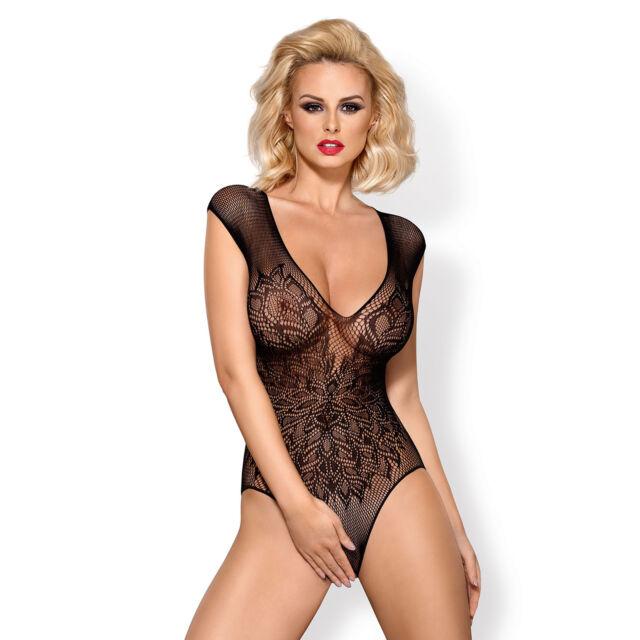Lingerie Sexy Femme Body ouvert B112 Noir Taille XL XXL - OBSESSIVE a90c41cbfe2