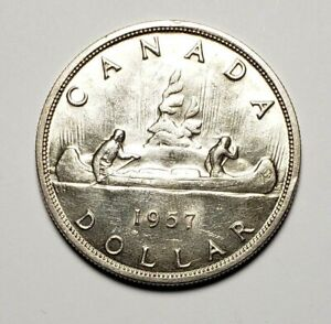 Canada-1957-Silver-1-00-One-Dollar-Coin