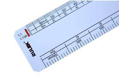 Aluminium Scale Ruler 300mm 6 Standards Danube Electronics 1:45 1:87 1:120 1