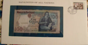 Banknotes of All Nations Portugal 100 Escudo 1980 P 178a2 UNC Prefix FH