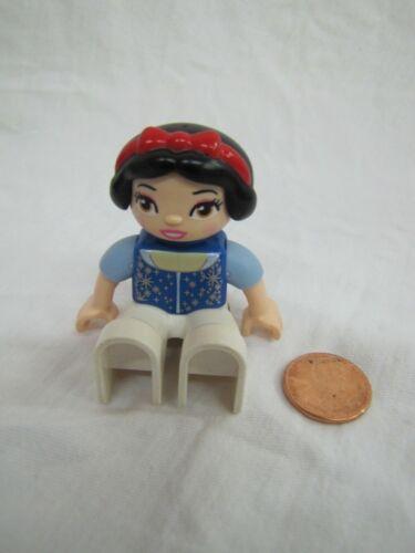 "LEGO DUPLO SNOW WHITE PRINCESS 2.5/"" FIGURE Replacement Dark Hair Girl"