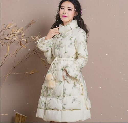 Elegant Broderet Outerwear Women Temperament Slim Lace Thicken Vogue TrSPqT