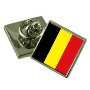 Leuven City Belgium Sterling Silver Flag Cufflinks Engraved Box