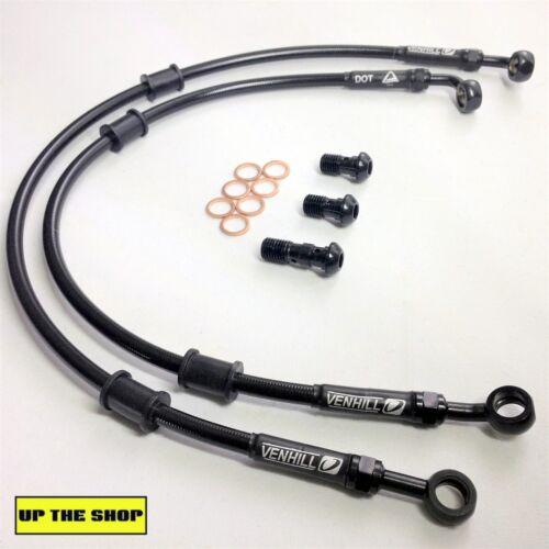YAMAHA FZ1 FAZER 1000 2007-09 VENHILL s//steel braided brake lines hoses Race
