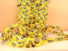 2 METRE SPONGE BOB SIZE 3/8 DOUBLE SIDED SHOE LACES PERFECT FOR BOWS HEADBANDS