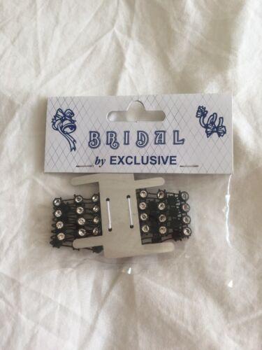 Wrist bracelets for DIY wrist corsages Black Diamanté Effect Elasticated
