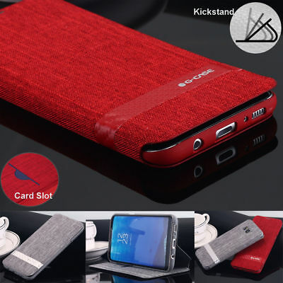 For Samsung Galaxy Note 9 /S9 Hybrid Slim Shockproof Wallet Case Kickstand Cover
