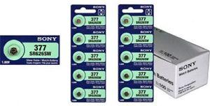 10-New-SONY-377-SR626SW-SR66-377-1-55V-Silver-Oxide-Watch-Battery-USA-Seller