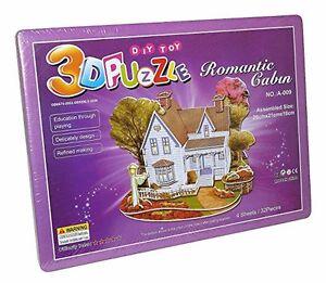 romantique-Land-Maison-Villa-3D-JOUET-PUZZLE-PUZZLE-32-pieces-NEUF-A-009