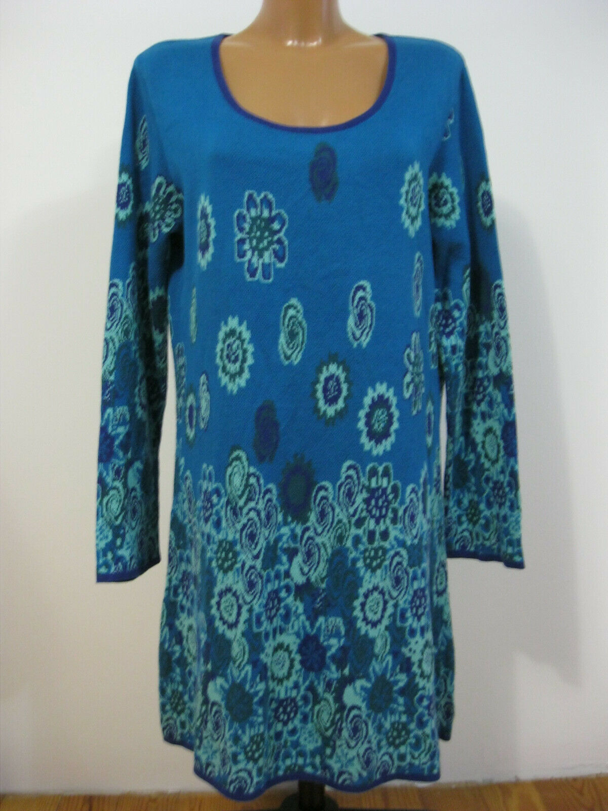 Deerberg Damen Kleid blau Gr. M