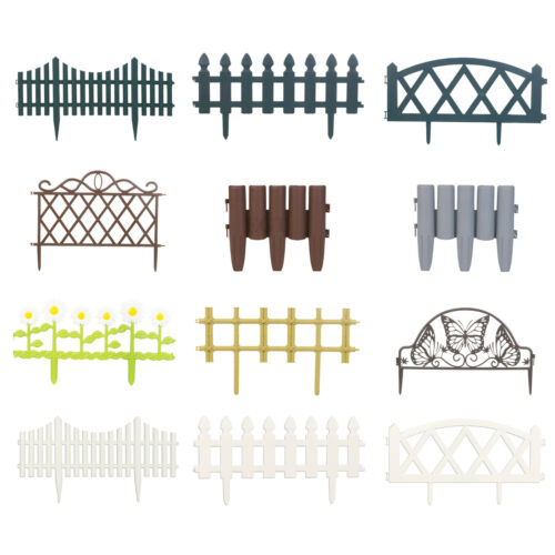 4 8 12 flexible Jardin Gazon bordure panneau frontière picket plastique clôture de mur