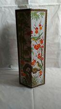 Grand Vase asiatique Hexagonale décor Oiseaux