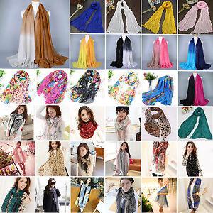 Women-Silk-Solid-Shawl-Wrap-Scarves-Long-Wraps-Shawl-Flower-Pashmina-Scarf-US
