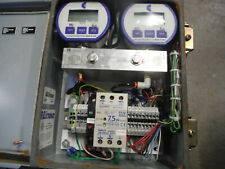 Cecomp Digital Pressure Controller With Two 0 100 Psi Gauges Rittal Enclosure