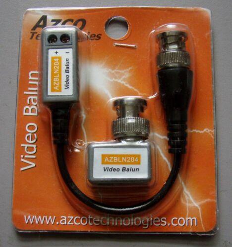 Azco Technologies Pair of 1 Channel Passive Video Baluns