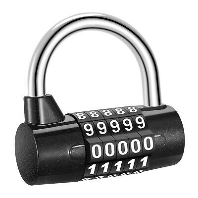 5 Digit Combination Lock Padlock Waterproof Resettable Outdoor Gym Luggage Lock