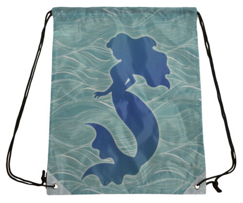 13 by 17 Inch Mermaid Design Polyester Tote// Shopping// Backpack Bag