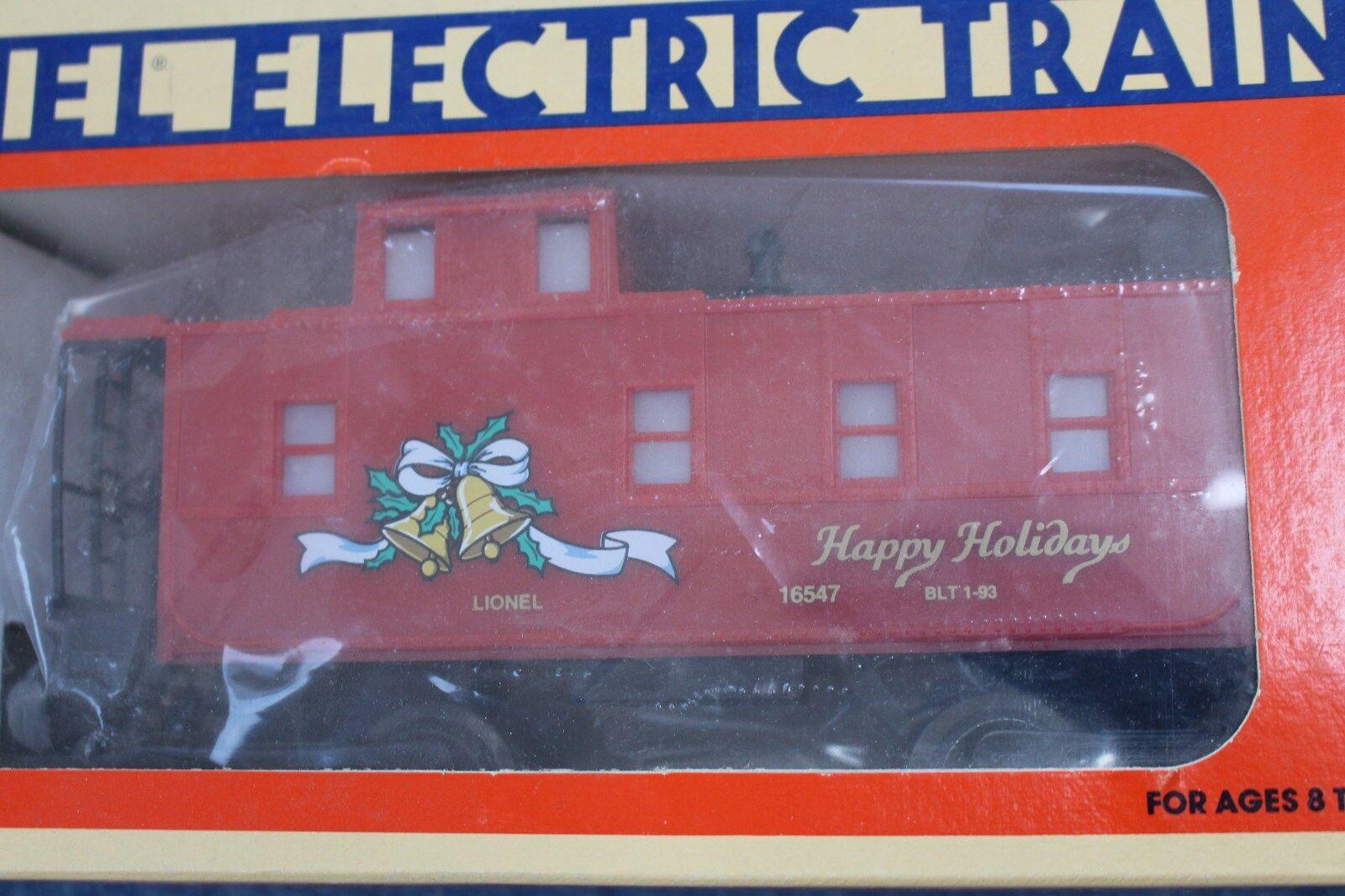 1993 Lionel Lionel Lionel 6-16547 Christmas Square Window Caboose L2675 334d54