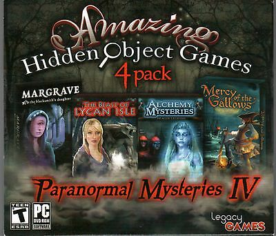 Paranormal Mysteries IV Hidden Object Games 4 Pack Bonus PC