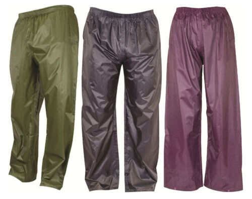 Kids New Imperméable Léger Pack Away Pantalon en Plein Air 3 Couleurs Toutes Tailles