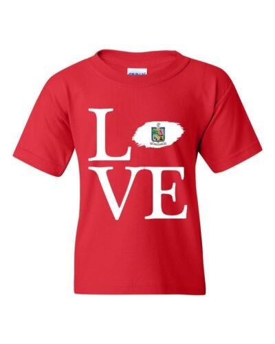 Love Mexico State of Nuevo Leon  Unisex Youth Shirts T-Shirt Tee