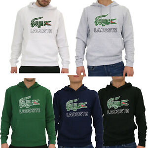9da2adda6a9d59 Das Bild wird geladen Lacoste-Hoodie -Pullover-Kapuzenpullover-Pulli-Kapuze-Herren-Logo-
