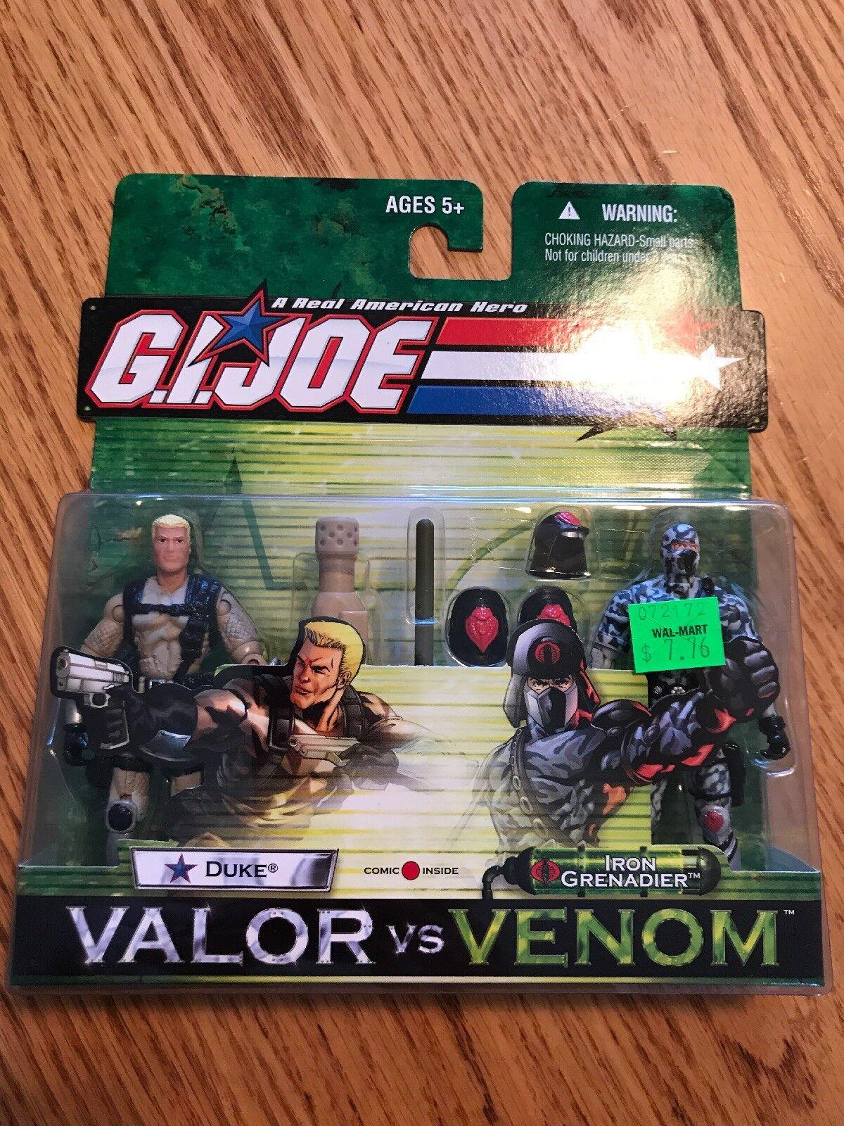Gi Joe Valor Vs Venom Duke Vs Iron Grenadier