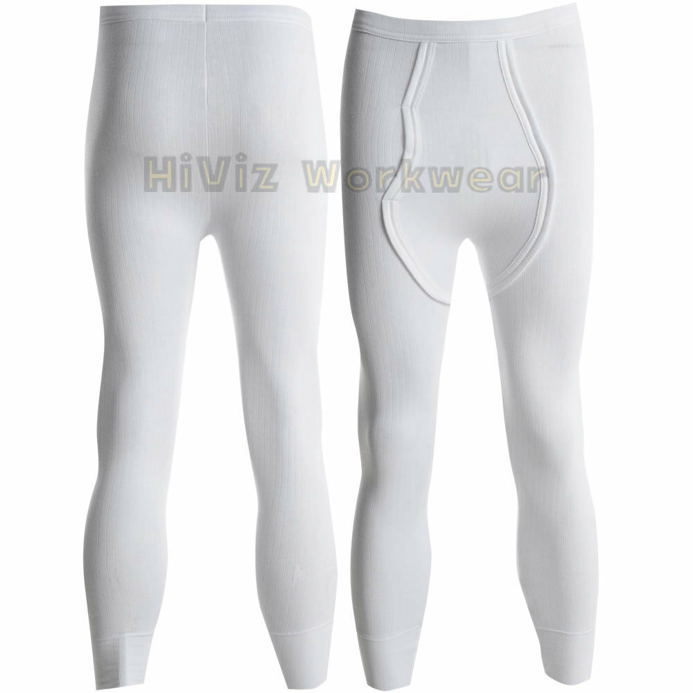 Thermal Long John Base Layer Heat Trap Fabric Work Wear Underwear Pants Bottom