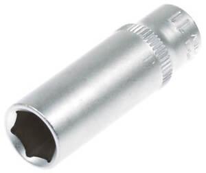Steckschluessel-SW-11-mm-1-4-Zoll-Werkzeug-Kfz-Stecknuss-Aussen-Sechskant-lang-Nuss