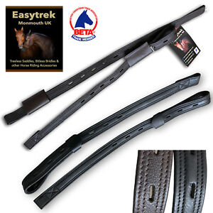 T-Bar-Stirrup-Leathers-Dressage-leathers-anti-stretch-Black-or-Brown-45-60cm