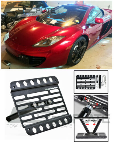EOS Plate For 12-14 Mclaren 12C W// PDC TowHook License Mount W// Lowering Bracket