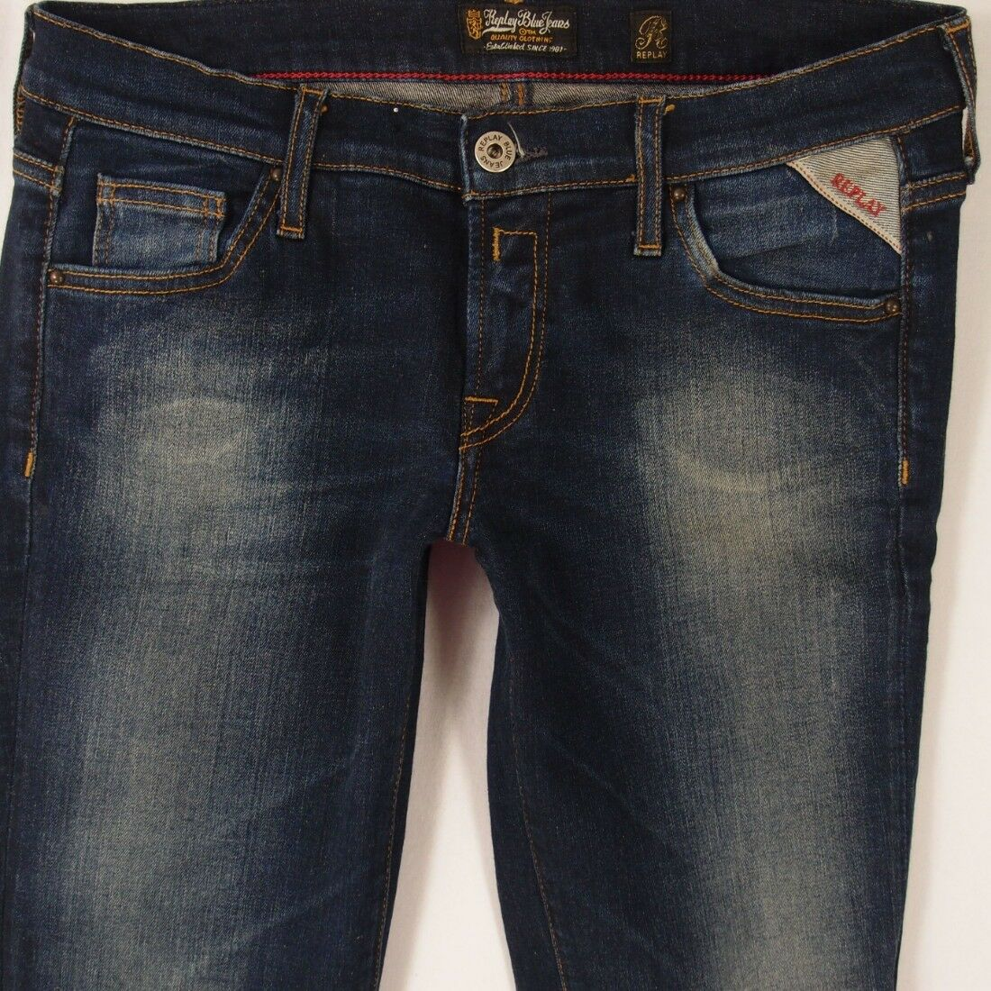 Ladies Womens Replay W44 WENDIE Stretch Bootcut bluee Jeans W28 L32 UK Size 8