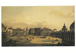 Kunstkarte/ Postcard: Canaletto - Der Zwingerhof in Dresden