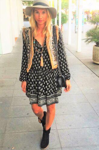 7521 S Printed Bloggers 8 Zara Nero Uk Woman Dress Small Boho 238 XafqH1