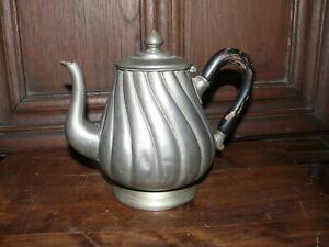 Rarität ca.200 Jahre alte Zinn Kanne Zinnkanne Kaffeekanne massiv Zinn gestemp.