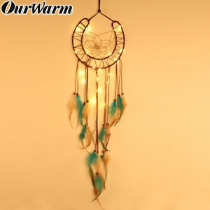 Horseshoes-Dream-Catcher-LED-Lights-Up-Kids-Room-Wall-Hanging-Fairy-Dreamcatcher